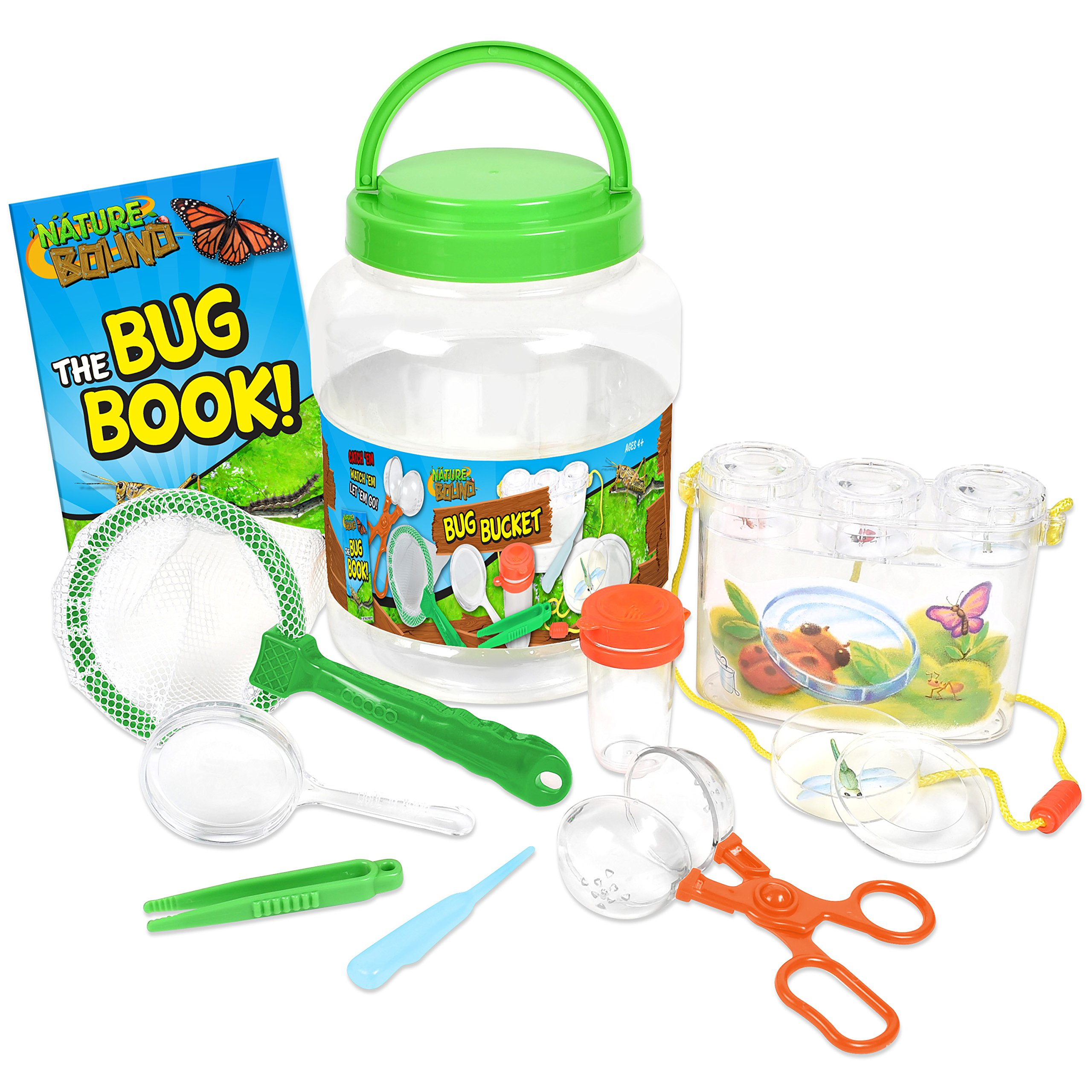 Nature Bound NB535 Bug Catcher with Habitat Bucket and 7 Piece Nature Exploration Set, Green (Pack of 14)