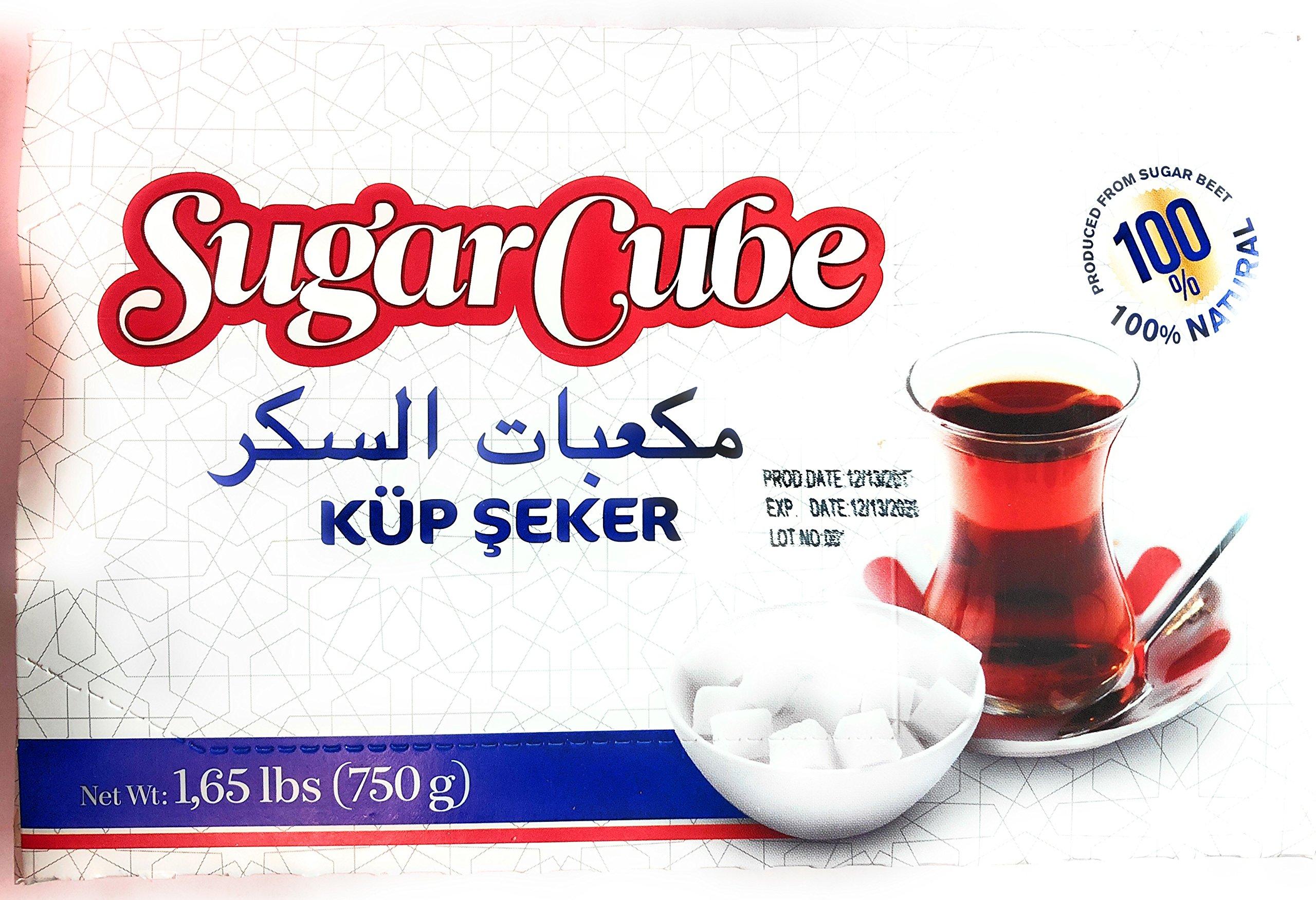 Sugar Cube Produced From Sugar Beet 100% Natural 1.65 LBS ( 750 G ) 4 Pack