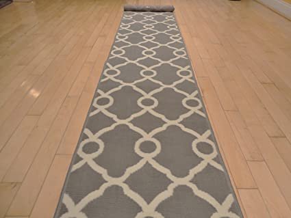 New Moroccan Runner 2x8 Grey With White Lines Kitchen Rugs Narrow Long 2x7  Runners Grey Contemporary