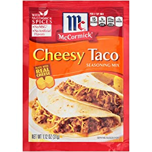 McCormick Cheesy Taco Seasoning Mix, 1.12 oz (Pack of 12)