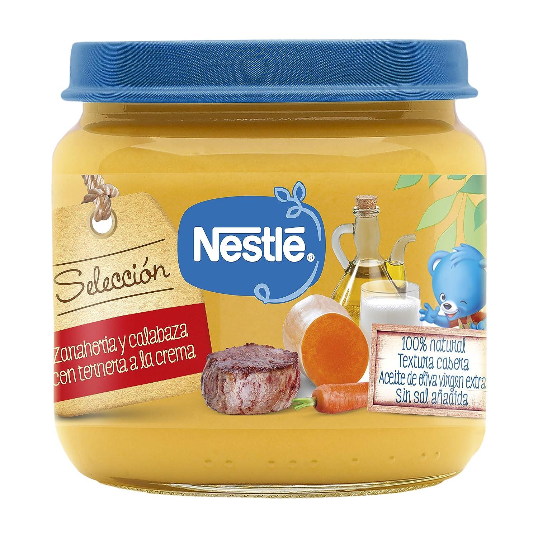 Nestlé Naturnes Tarrito Zanahoria y Calabaza con Ternera a la Crema a Partir de 6 Meses- 190 g: Amazon.es: Alimentación y bebidas
