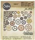Sizzix Gearhead by Tim Holtz Juego de troqueles, diseño de engranajes, acero al carbono, 22 unidades, multicolor