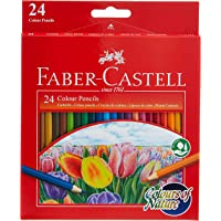 FABER-CASTELL COLOURS OF NATURE COLOUR PENCILS 24 COLOUR IN A CARDBOARD BOX,Assorted designs