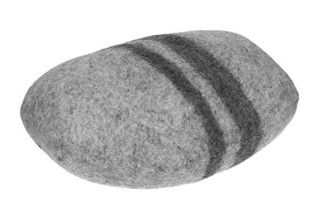 Feltiness Piedra Fieltro Cojín, Gran Piedra 100% Lana Puff ...