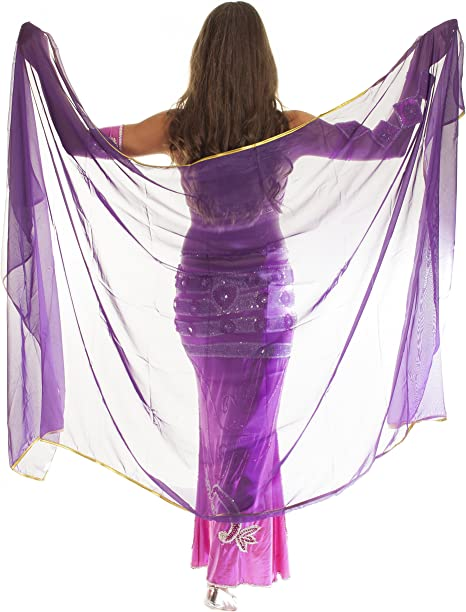 The Turkish Emporium - Velo de novia morado Lila/Gold: Amazon.es ...