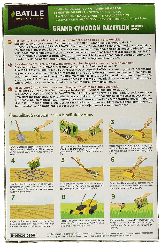 Semillas de Césped - Césped Cynodon Dactylon Grama Fina 250g - Batlle