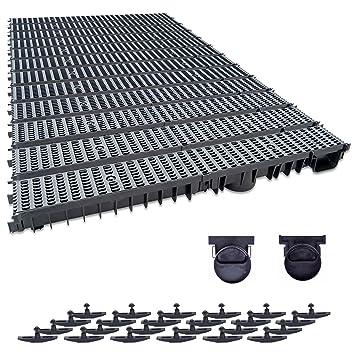 4m Entwässerungsrinne mit Dichtung A15 Tiefe:100 komplett SET schwarz-classic