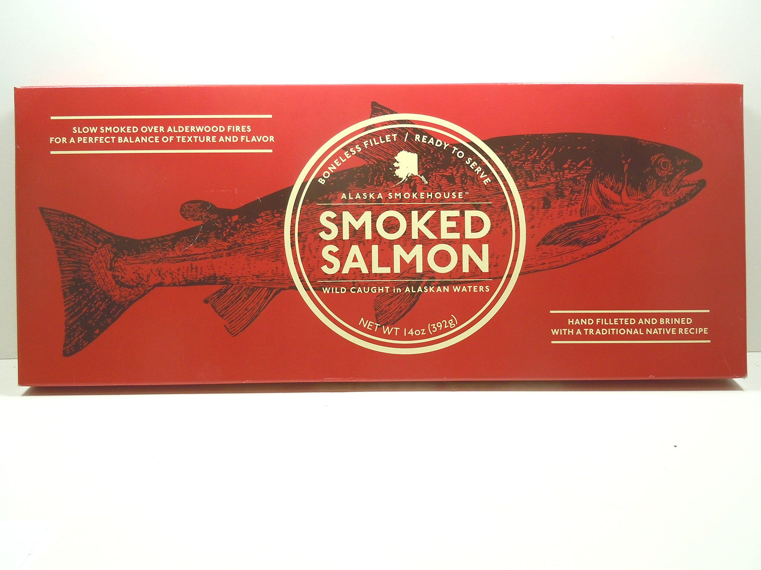 Alaska Seafood Naturally Wild Alaska Smoked Salmon 14oz. Fillet