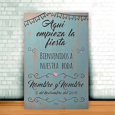 Enkolor/Cartel Boda madera/Personalizado/Artesanal ...