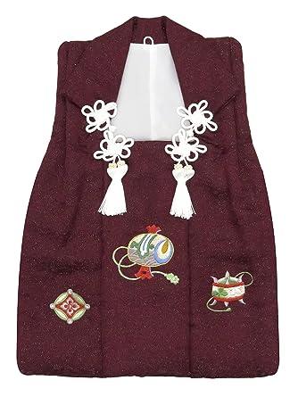 6c1a63fbf3d8f 被布 七五三 3歳 単品 男の子 刺繍入りの被布コート 正絹「赤紫 小槌