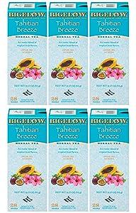 Bigelow Tahitian Breeze Herbal Tea Bags 28-Count Boxes (Pack of 6) Hibiscus, Rose Hips, Apple, Herbal Tea Bags All Natural Gluten Free