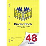 Spirax 125 A4 Binder Book with 18MM Dotted Thirds (48 Pages)