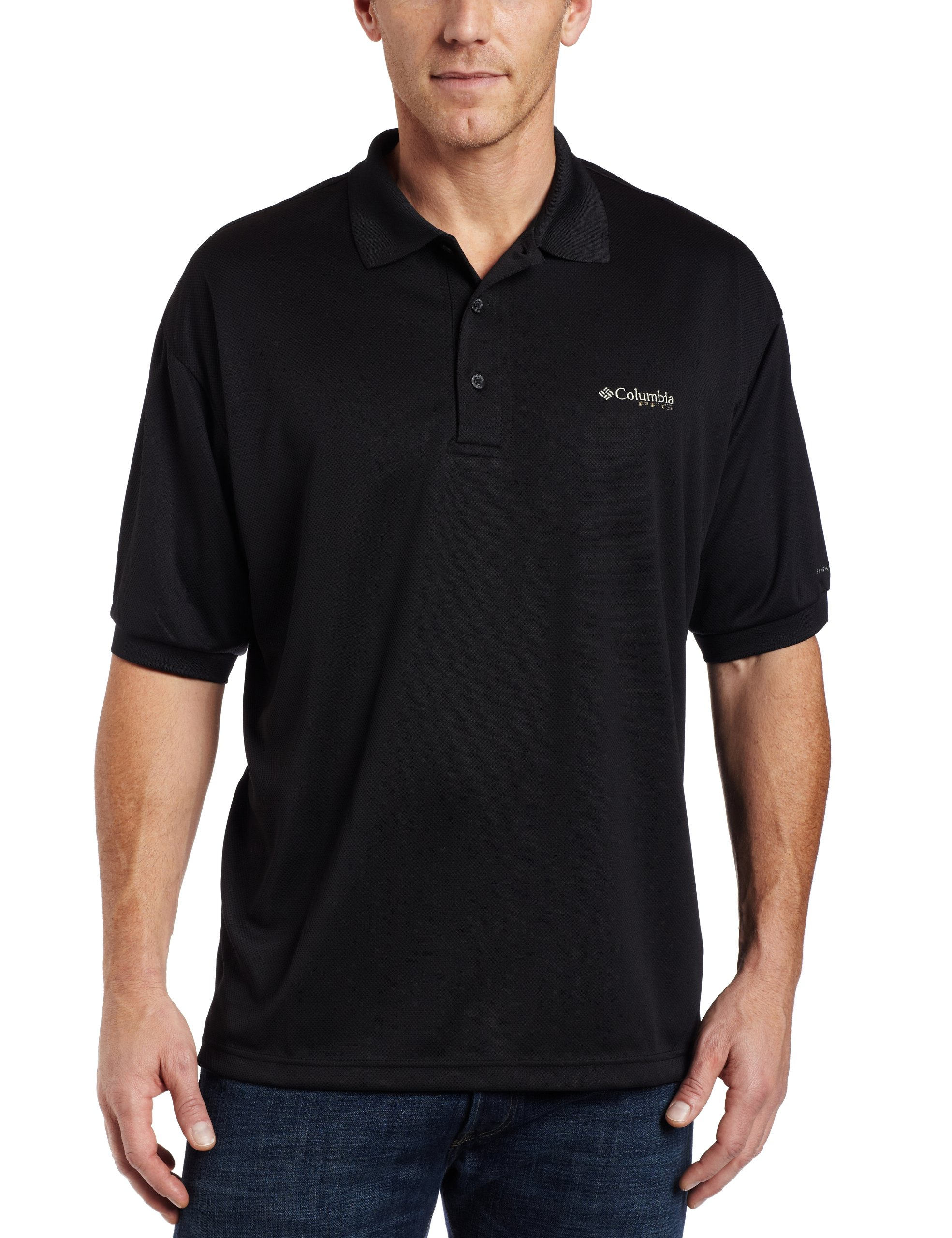 Columbia Men's Perfect Cast Polo, Black, Medium