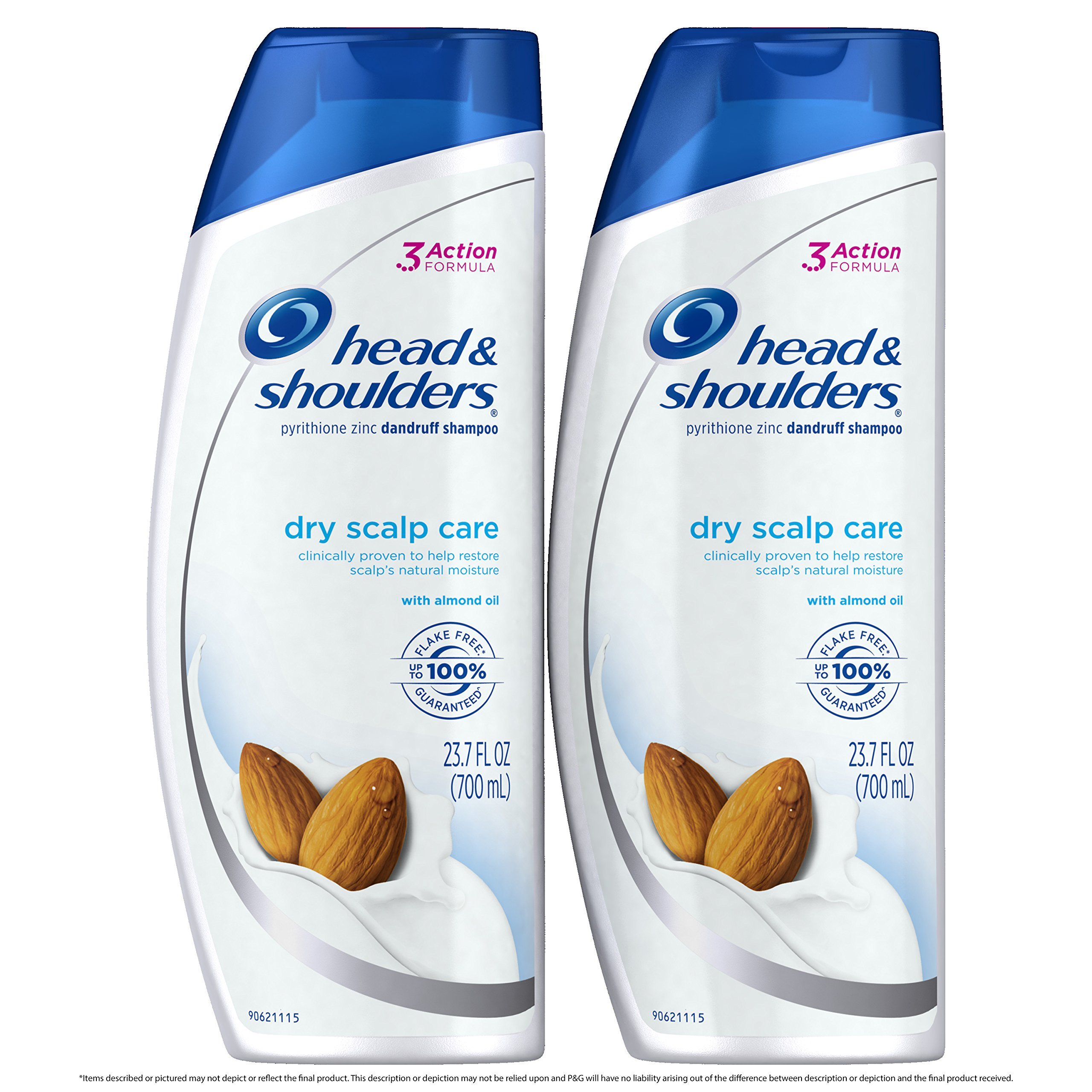 Head and Shoulders Anti Dandruff Shampoo, Dry Scalp Care with Almond Oil, 23.7 Fl Oz (Pack of 2)