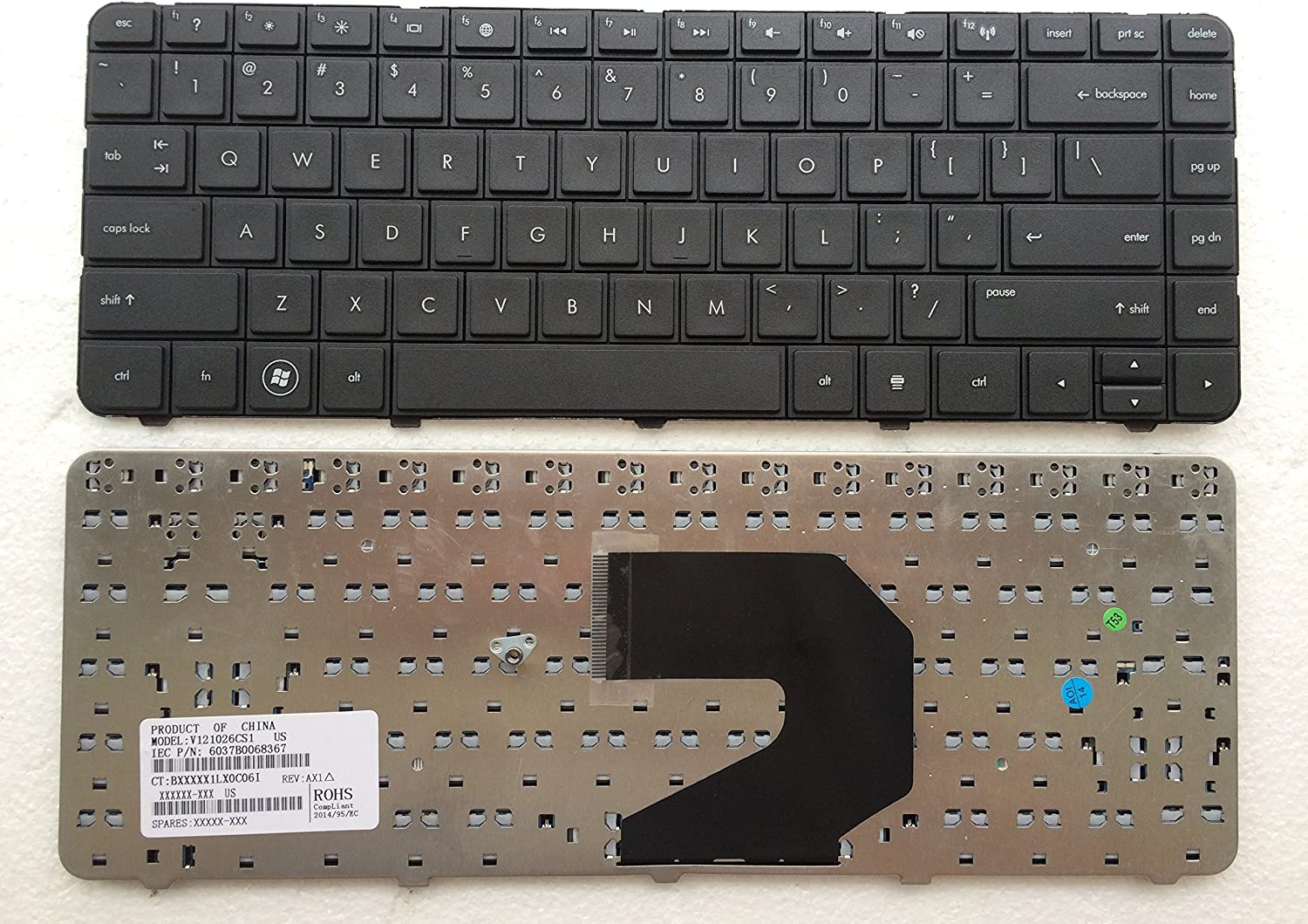 Laptop Keyboard Replacement for HP Pavilion G4 G6 CQ43 G43 CQ43-100 CQ57 CQ58 430 2000 1000 240 G1 245 G1 246 G1 255 G1 250 G1 Compaq 430 431 630 631 636 450 455 650 655 Laptop US Layout