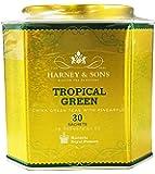 Harney & Sons Tropical Green Tea Tin - Handpicked China Green Teas with Pineapple - 2.67 Ounces, 30 Sachets