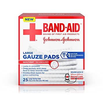 amazon com band aid brand large gauze pads for minor cut and