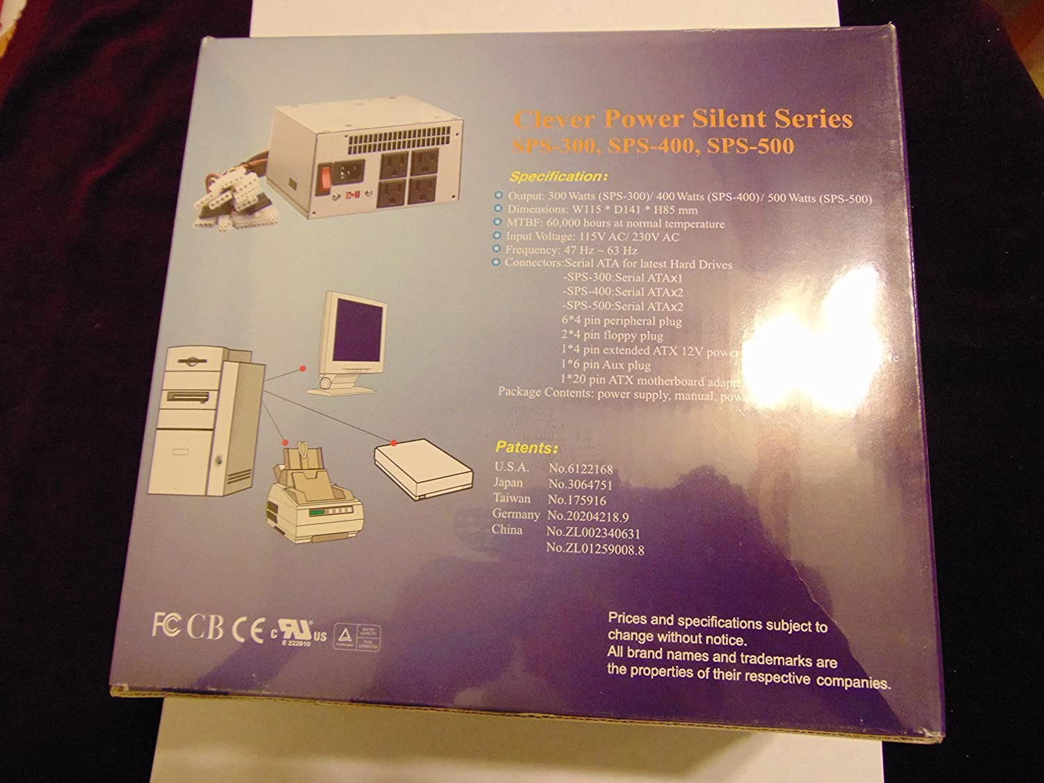 Clever Power Supply SPS-500 Silent 500 Watts Brand New