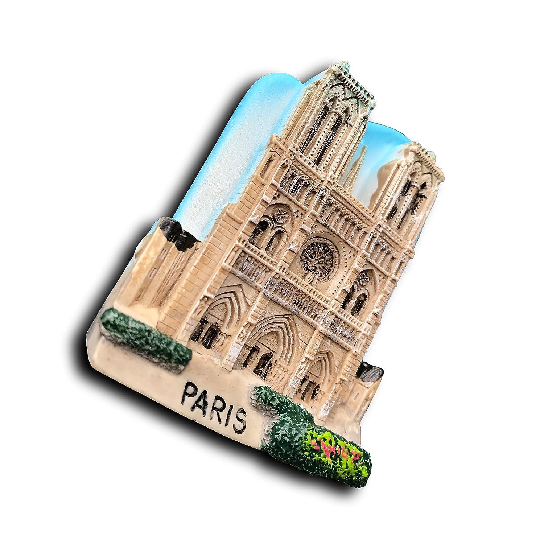 Notre Dame de Paris France 3D Refrigerator Magnet Tourist Souvenirs,Hand-Made Paris Travel Sticker Fridge Magnet,Home and Kitchen Decoration