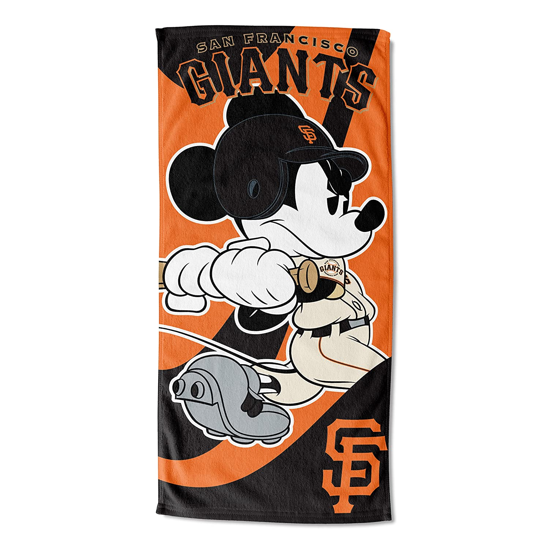 MLB San Francisco Giantsディズニーワインドアップミッキービーチタオル、28 x 58-inch B00BBUO1JO