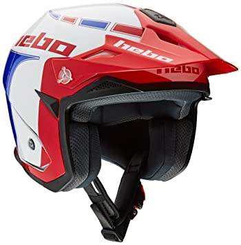 HEBO HC1115AXL Trial Zone 5 Like Casco, Azul, XL