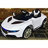 Kids R8 Spyder Style Roadster Sports Car with Remote Control 12v Electric / Battery Ride on Car - White