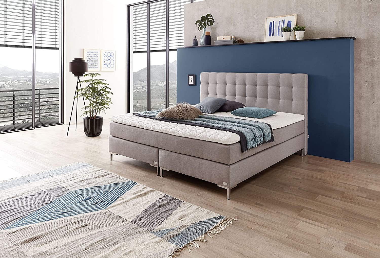 Topper 180x200 Boxspring.Welcon Luxury Box Spring Bed Rock Star 180x200 H3 Hardness
