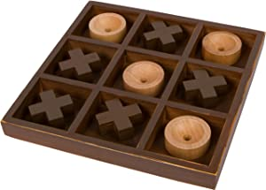 """Trademark Innovations 10"""" Wooden Tic Tac Toe Desk Top Table Décor Game"""