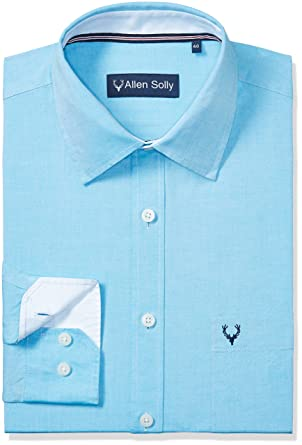 2e446fc467 Allen Solly Men's Formal Shirt (8907308839917_AMSF1G01700_39_Sky Blue):  Amazon.in: Clothing & Accessories