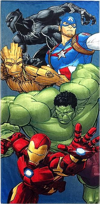 Marvel Comics Avengers Team Velour Beach Towel