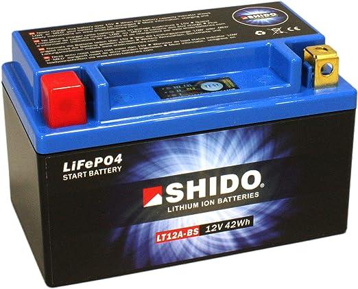 Batterie Shido Lithium Lt12a Bs Yt12a Bs 12v 9 5ah Maße 150x87x105 Für Suzuki Gsx R 1000 Baujahr 2011 Auto