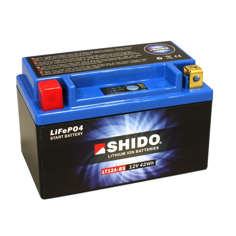f/ür Kawasaki Z1000 SX //ABS Baujahr 2016 Ma/ße: 150x87x105 12V//9,5AH Batterie Shido Lithium LT12A-BS // YT12A-BS
