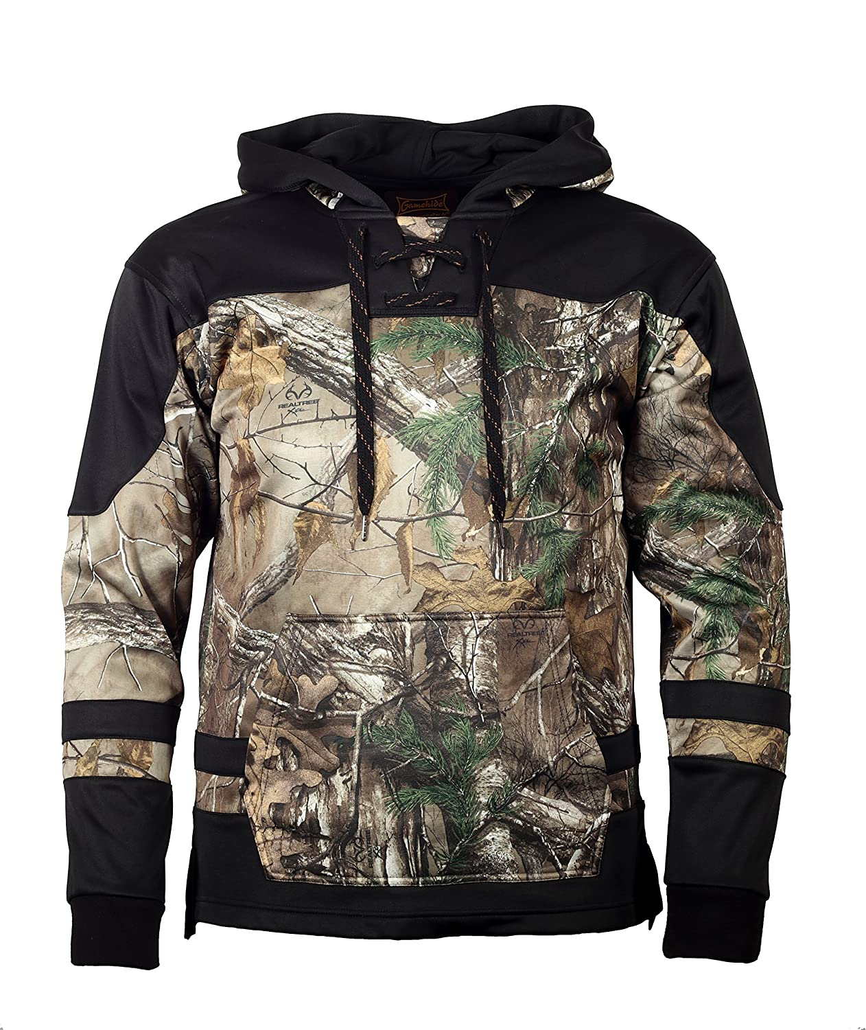 Overtime Camo Hockey Hoodie with Laces by Gamehide Medium Realtree Xttra / Black B077YXZX49