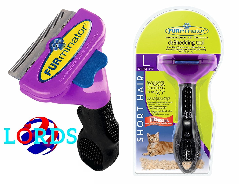 FURminator L pettine spazzola gatti oltre 4, 5 kg pelo corto inferiore ai 5 cm