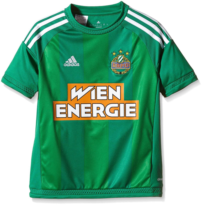 Adidas Team SK Rapid Wien Home 15/16 - Camiseta para niño, diseño del Equipo SK Rapid Wien, Infantil, Color Bold Green/White, tamaño 176: Amazon.es: ...
