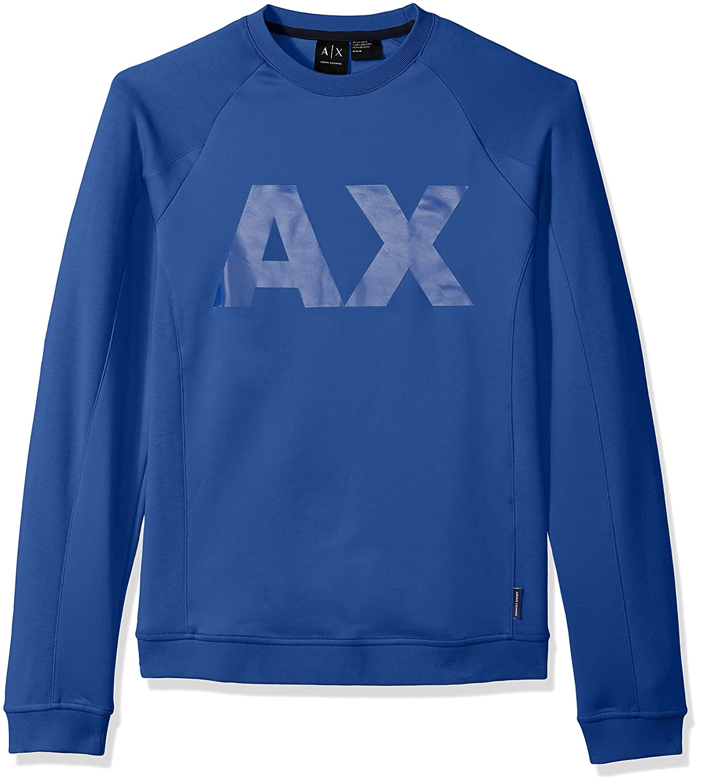 Amazon.com: A|X Armani Exchange Mens Neoprene Sweatshirt Ax Logo: Clothing