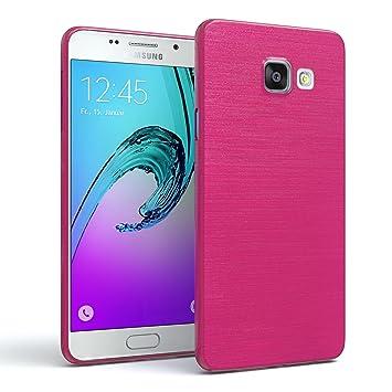 EAZY CASE Hülle für Samsung Galaxy A3 (2016) Schutzhülle Silikon, gebürstet, Slimcover in Edelstahl Optik, Handyhülle, TPU Hü