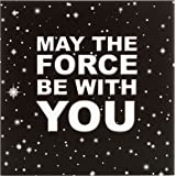Hallmark – Carte vierge Star Wars avec inscription « May The Force Be With You » - Moyen format