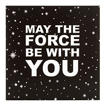 Hallmark Star Wars Blank Cardmay The Force Be With You Medium