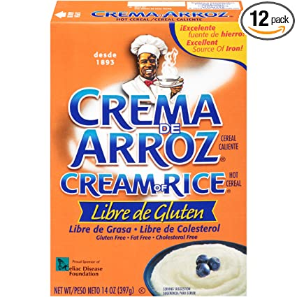 Crema de Arroz Libre de Gluten Cereal Caliente, 14 Ounce (Pack of 12)