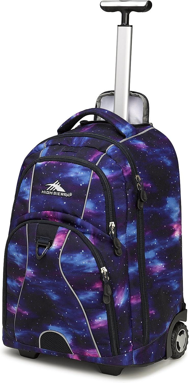 High Sierra Freewheel Wheeled Laptop Backpack, Cosmos/Midnight Blue, 20.5 x 13.5 x 8-Inch