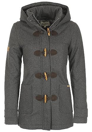 df26db9ea3974 Desires Penna Duffle-Coat Abrigo Chaqueta De Lana para Mujer Forrado con  Cuello Alto  Amazon.es  Ropa y accesorios