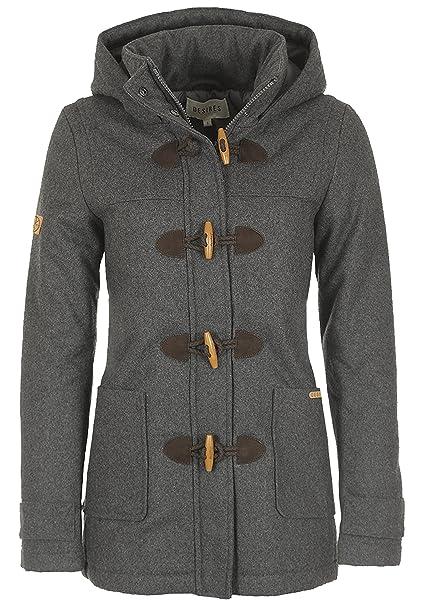 9d097feeb0d6b Desires Penna Women s Woll Coat Outdoor Jacket Dufflecoat With Hood ...