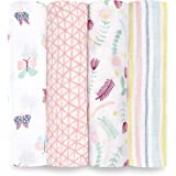 Aden by aden + anais Swaddle Blanket, Muslin Blankets for Girls & Boys, Baby Receiving Swaddles, Ideal Newborn Gifts…