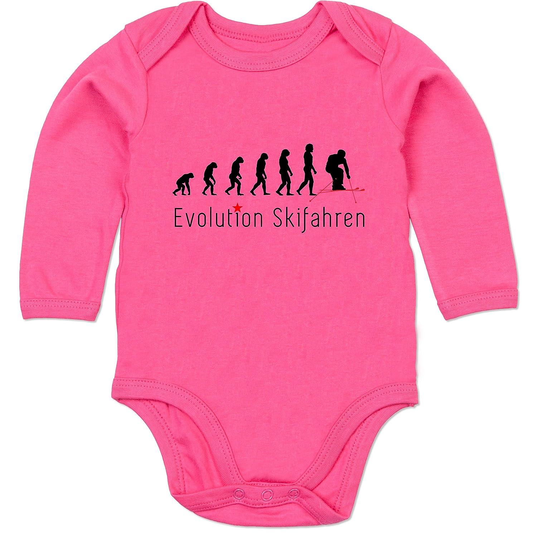 Evolution Baby - Skifahren Evolution - Baby Strampler aus organischer Baumwolle für Mädchen und Jungen