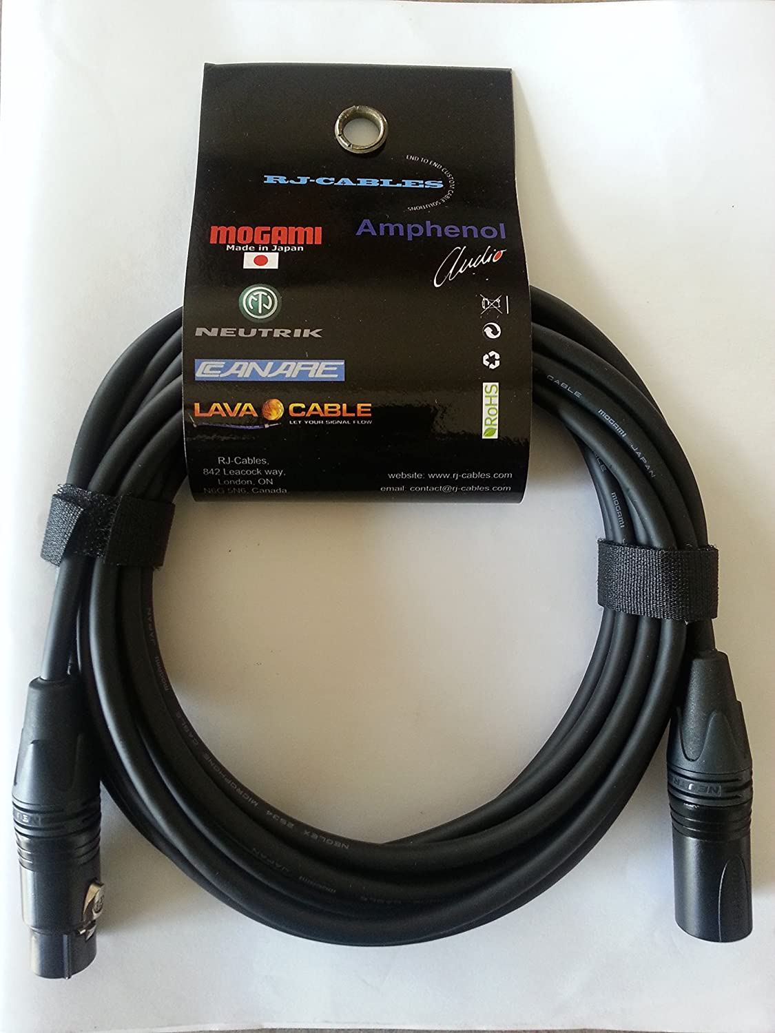 2M(6.5ft) -Mogami 2534 Neglex Quad Balanced Microphone Cable with Neutrik Gold XLR Connectors Designed for Heavy-Duty Stage and Broadcast Use RJ CABLES-CANADA