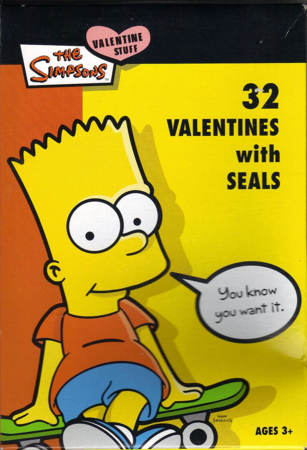 Amazon Com The Simpsons 32 Valentines With Seals Health Personal