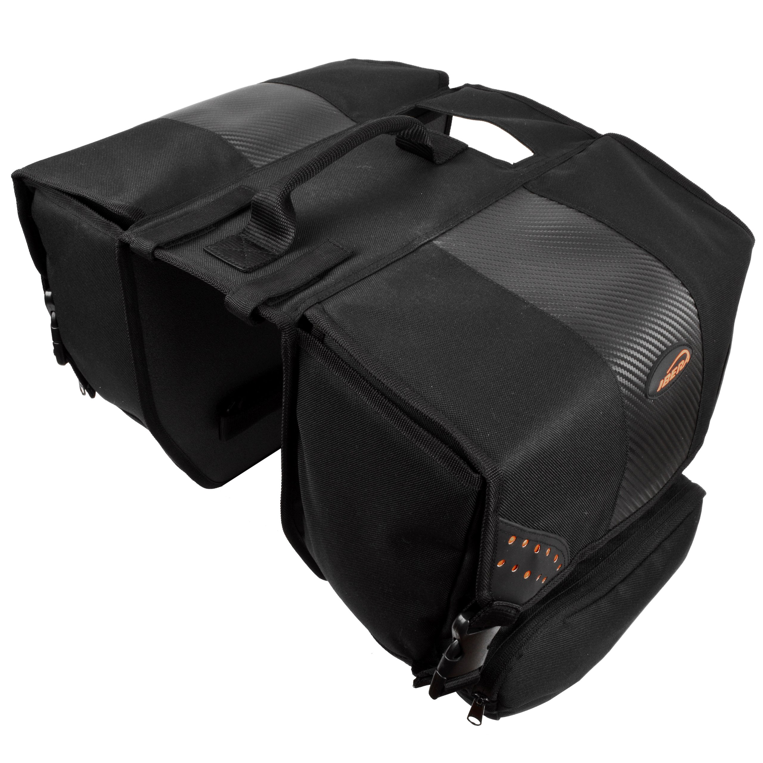 Ibera Bicycle Side-Mounting Pannier Set, Bike Panniers with Multi-Compartments, Slit on Top to Mount on Smaller Racks  by Ibera (Image #5)