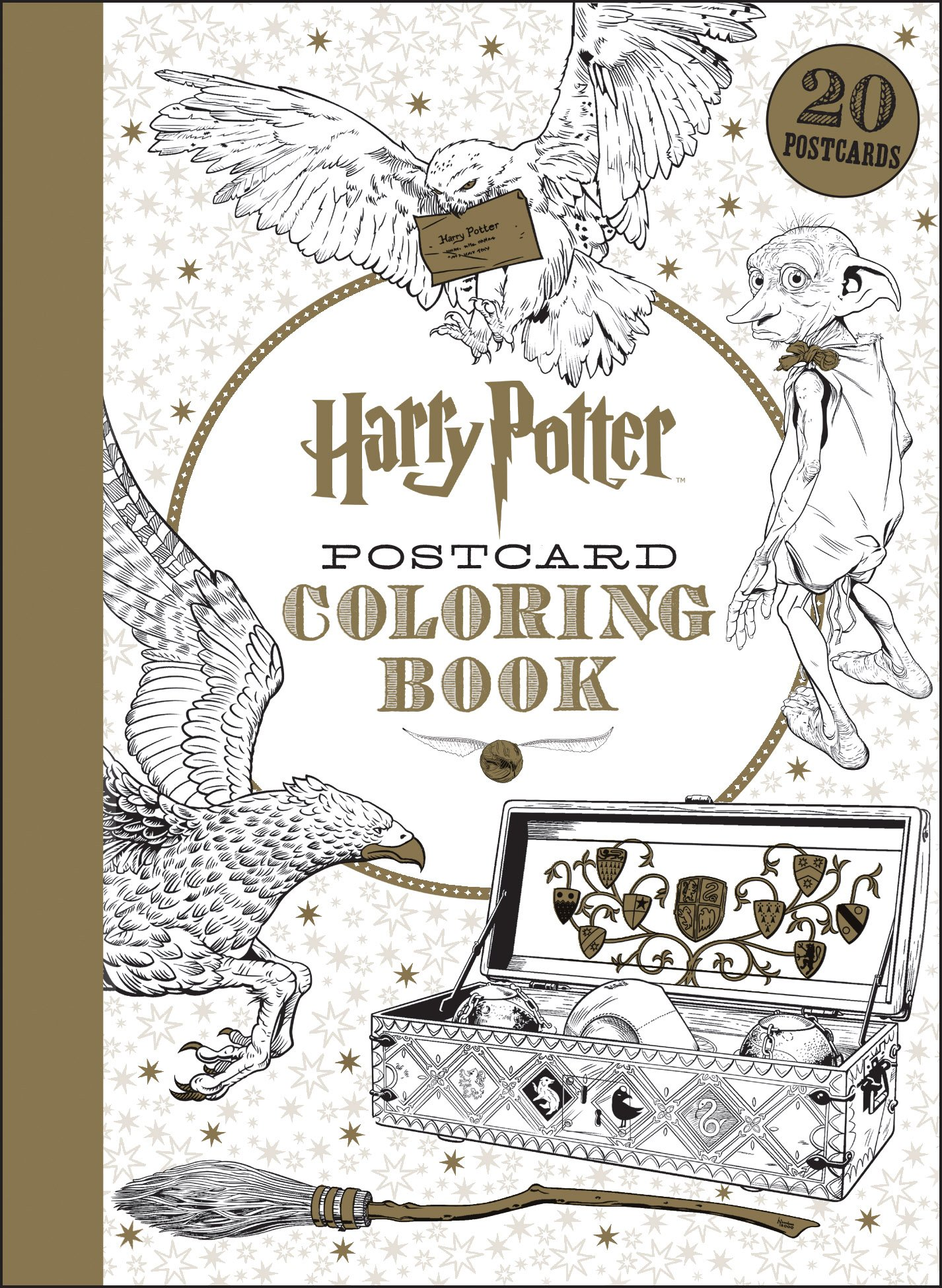 harry potter postcard coloring book scholastic 9781338045758 amazoncom books