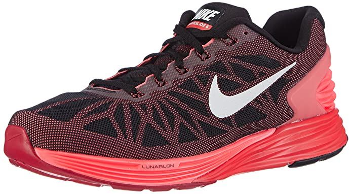 Nike Men's Lunarglide 6 Running Shoes - Match Shoe, Black (Black/White-Brght  Crmsn-ht Lv 010), 7.5 (EU): Amazon.co.uk: Shoes & Bags